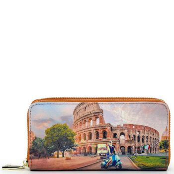 Y NOT Woman Wallet with Double Zip Closure YES-368 Rome Vita