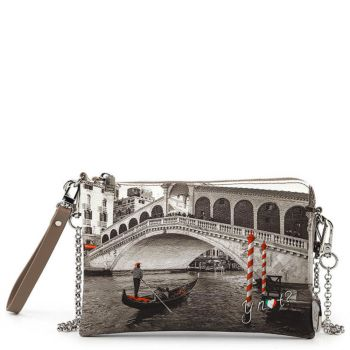 Y NOT Woman Pochette with Strap YES Line YES-384 Venice Bridge