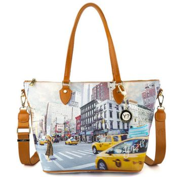 Y NOT Woman Shoulder Bag with Strap YES Line YES-396 NY Tower