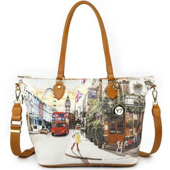 Y NOT Woman Shoulder Bag with Strap YES Line YES-396 London Pub