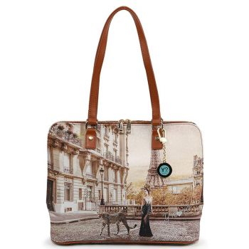 Y NOT YES-478 Line – Large Shoulder Bag with Sauvage Print for Women