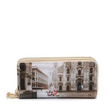 Y NOT YES-568 Line – Double Zip Around Wallet with Milano Classic Print for Women