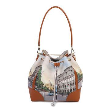 Y NOT YES-576 Line – Bucket Bag with Roma Aurelia Print for Women