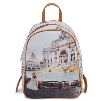 Y NOT YES-578 Line – Backpack with Roma Trevi Print for Women