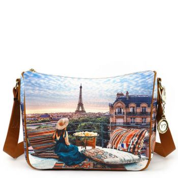 Y NOT Woman Crossbody Bag YES Line YES-370 Paris View