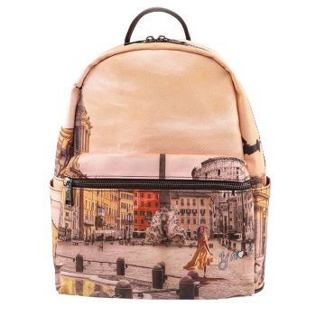 Y NOT Woman Backpack YES-380 Morning in Rome