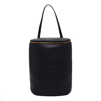 COCCINELLE Concrete Journal Line – Black Leather Backpack