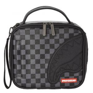 SPRAYGROUND Henny Black Checkered Print Necessaire