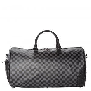 SPRAYGROUND Henny Black Checkered Print Travel Bag