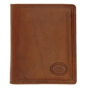 THE BRIDGE Story Line - Brown Leather Vertical Wallet Made in Italy