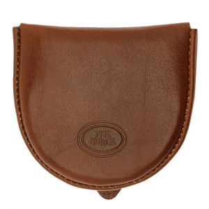 THE BRIDGE Story Line - Brown Leather Coin Case Made in Italy