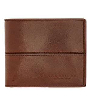 THE BRIDGE Vespucci Line – Brown Leather Wallet with Coin Pocket Made in Italy