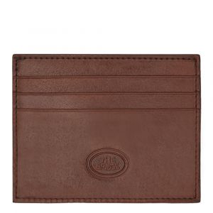 THE BRIDGE Story Line - Brown Leather Credit Card Holder Made in Italy