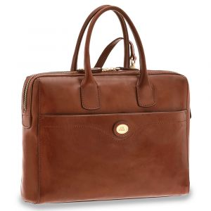THE BRIDGE Story Line – Brown Leather Messanger with Two Handles