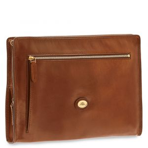 THE BRIDGE Story Line - Brown Leather Document Holder with Zip Made in Italy
