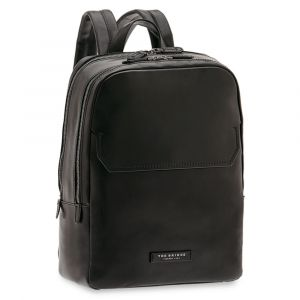 THE BRIDGE Williamsburg Line - Black Leather Backpack Pc 14""