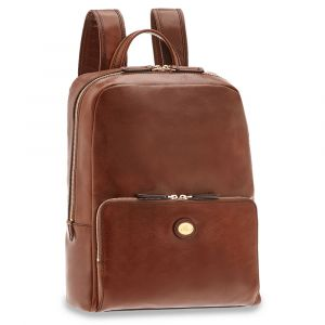"THE BRIDGE Story Line - Brown Leather Backpack Pc 13"" Made in Italy"
