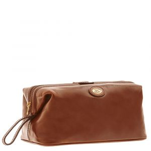 THE BRIDGE Brown Leather Necessaire Story Line Made in Italy