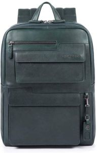 """PIQUADRO Wostok Line – Green Leather Backpack with 15,6"""" Pc Compartment CA4833W95"""