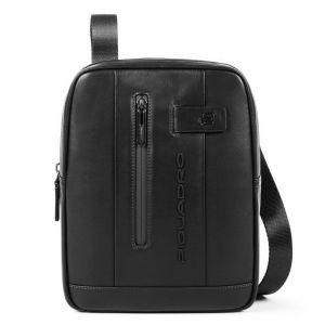"PIQUADRO Urban Line – Black Leather Crossbody Bag with iPad®10,5""/iPad 9,7"" Compartment CA1816UB00"