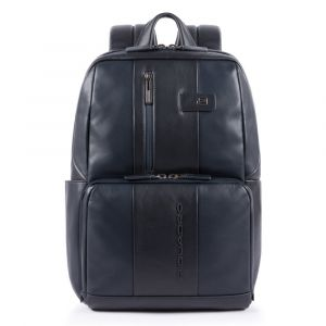"""PIQUADRO Urban Line – Blue Leather Backpack with 14""""pc and iPad Compartments CA3214UB00"""