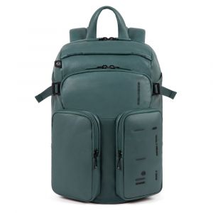 PIQUADRO Kyoto Line – Green Leather Backpack CA4922S106